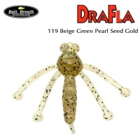 Силиконова примамка Bait Breath DraFla #119 Beige Green Pearl Seed Gold