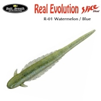Силиконова змиорка Bait Breath Real Evolution R-01 Watermelon / Blue