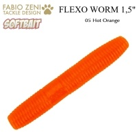 Силикон Fabio Zeni Flexo Worm 05 Hot Orange