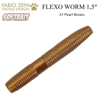 Силикон Fabio Zeni Flexo Worm 31 Pearl Brown