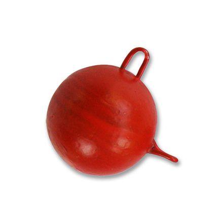 Джиг-глава за силиконова примамка, червена (чебурашка)